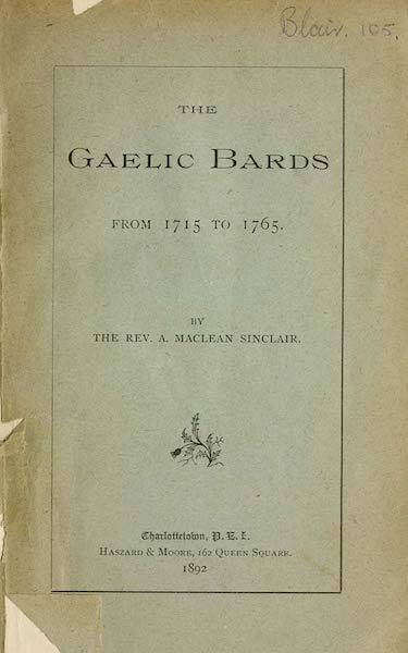 The Gaelic bards: from 1715 to 1765