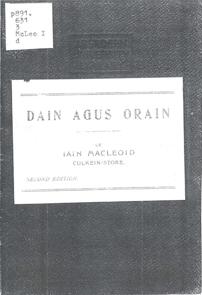 Dain agus Orain (Poems and Songs)